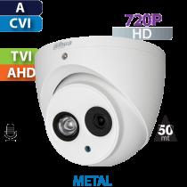 Cámara Domo IR HD-CVI  720p IR 50 Mts CON AUDIO Dahua (HDW1100EMN-A)