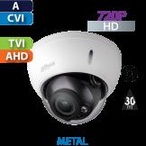 Cámara Domo IR HD-CVI  720p Varifocal Antivandalico Dahua (HDBW1100RN-VF)