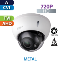 Cámara Domo IR HD-CVI  720p Varifocal Antivandalico Dahua (HAC-HDBW1100R-VF)