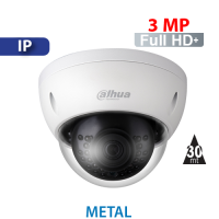 Cámara Domo IR IP 3MP Antivandalico Dahua (IPC-HDBW1320E)