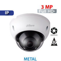 Cámara Domo IR IP 3MP Varifocal Antivandálico Dahua (HDBW2320R-VFS)