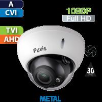 Cámara Domo IR HD-CVI 1080p Varifocal Antivandalico Pyxis