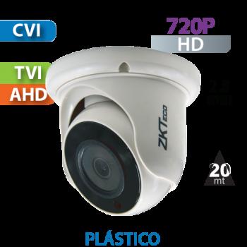 Cámara Domo IR HD-CVI  720p  ZKTeco (ES31A11J)