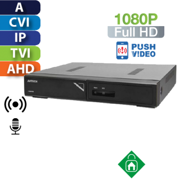 DVR  8 Canales 1080p Multiformato HomeSys by Avtech (VR402)