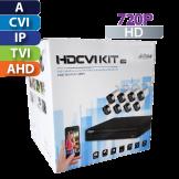 KIt de CCTV 8 CH  720P / 8 Cámaras Bala / Cable / Fuente Dahua (KIT4108X)