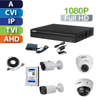 Kit Profesional Full HD Pentahibrido (DVR 4, 8, 16 o 32ch)