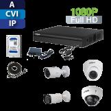 Kit Profesional Full HD Tríbrido (DVR 4, 8, 16 o 32ch con Cámaras Análogas, HD-CVI e IP)