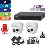 Kit CCTV HD 720P Pentahibrido con Audio Dahua