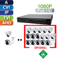 Kits de Cámaras con Grabador de   4,8 o 16 Canales 1080p HomeSys by AVTec