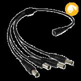 Conector de Voltaje p/4 cámaras Pyxis (PW-PXO-4)