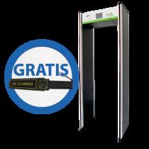 Arco Detector de Metal de 18 zonas con Control Remoto y Detector manual ZKTeco