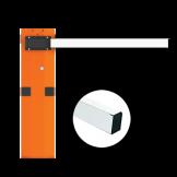 Barrera Naranja con Brazo Rectangular 6 Mts. SIN Iluminación CAME (001USU0018)