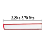 Brazo 3.70 Mts SIN Iluminación para Barrera Ditec (DI-QIKB37)