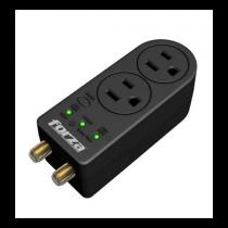 Regulador de Voltaje y Protector 110V 1 Salida NEMA 1400J Coaxial Forza (FVP-0200C)